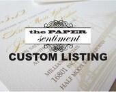 Custom Listing for Nicole - Extra Programs