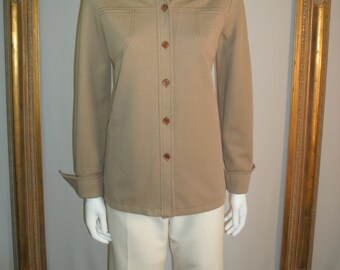 CLEARANCE 50% OFF Vintage 1970's Graff Californiawear Beige Jacket - Size 10
