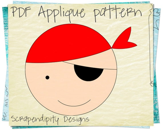Pirate Applique Pattern Pirate Template Pirate Iron On