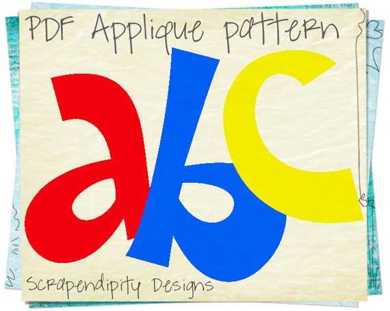 Alphabet Applique Pattern Letters Applique Template Kids