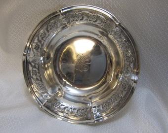 Whiting Vintage Victorian Sterling Trinket Dish