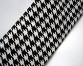 Camera Strap Cover CLEARANCE SALE - Black and White Houndstooth- Beautiful Strap
