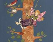 Children Fantasy Fairy Art - Let Love Grow - Original OOAK - 8 x 10 Giclee Print