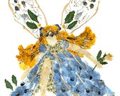 Moon-Spirit Faery - Im9agine Magic - Original Flower Fairy Art - Spring Blossom Design - 8 x 10 Fine Art Print