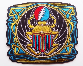 Grateful Dead Egyptian scarab embroidered patch - Franklin's Tower - original artwork - not pin poster