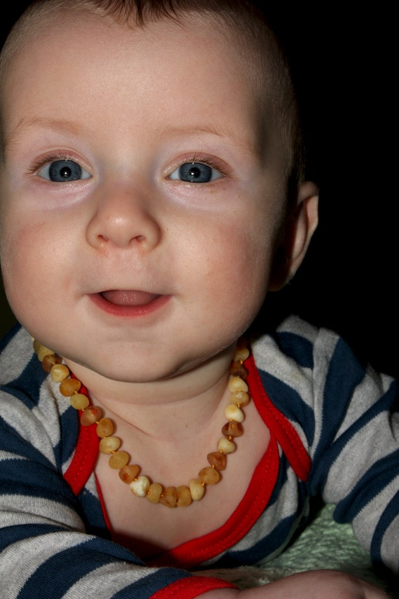 Baltic Amber Teething Necklace For Baby unpolished, amber necklace, teething necklace, raw amber baby necklace, nursing necklace, teething