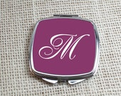 Monogram Compact Mirror - Personalized Pocket Mirror - Initia - Perfect Gift For Your Bridemaids, Sister & Friends By Peachwik