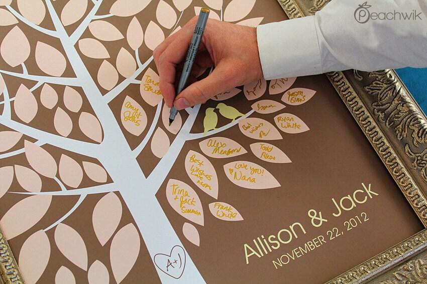 Wedding Guest Book Alternative The Wishwik Tree A By Peachwik