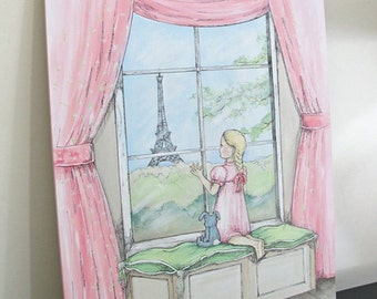 Gazing at Paris- original artwork