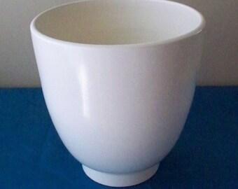 Poole of England Pottery Planter Jardiniere  Vase 180 Mid Century Design Ultra Smooth High Gloss Wedding White Finish