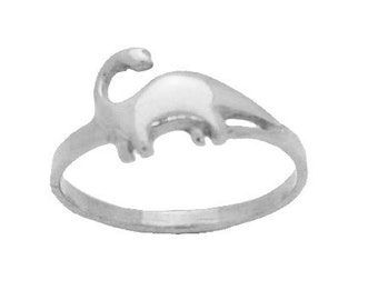 BEAUTY ADORABLE REAL Sterling Silver brontosaurus dinosaur Ring pick your size