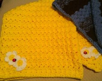 Sunshine daisies & Lady bugs baby blanket