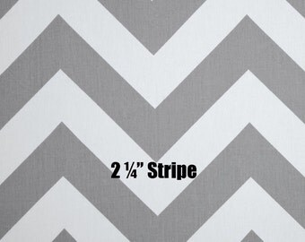 Storm Gray White Chevron Curtains - Rod Pocket - 63 72 84 90 96 108 or 120 Long by 24 or 50 Wide