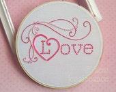 Hand Embroidery  Pattern Valentine Love PDF
