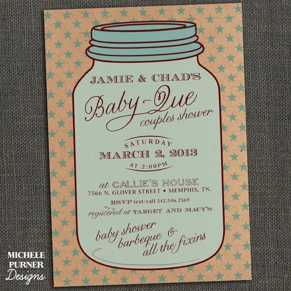 mason jar baby shower invitations mason jar country style baby shower