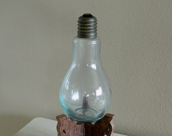 Extra Large Recycled Glass Light Bulb Spain