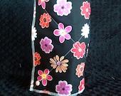 Black floral unpaper towels- 11x11