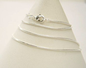 "One - 18 "" Silver Plated, Snake Chain, Necklace  18 inches  X 1.5 mm   Empty, Blank Jewelry Design"