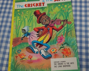 SALE the cricket and the ants, vintage 1973 children's book