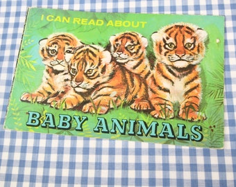 i can read about baby animals, vintage 1975 children's book