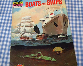 the how and why wonder book of boats and ships, vintage 1963 children's book