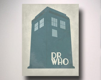 Dr. Who Tardis Poster / Poster Print/ Wall Art / Geekery Poster / Choose your size
