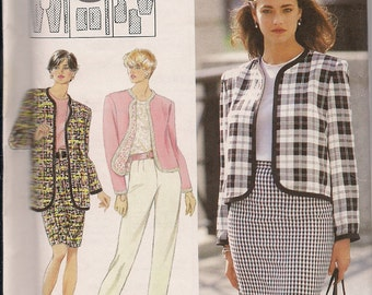 1992 Sewing Pattern Simplicity 7973 Misses pants, skirt, jacket size 6-12