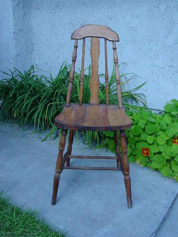 1930s Maple Kitchen Chair Original Condition American Farm
