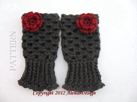 Crochet Glove Pattern 069 for Fingerless Gloves Mary - Glove Crochet Pattern -Toddler Child Teen Adult Girls Women Ladies Slouchy Hat Set