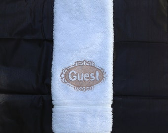 Decorative Machine Embroidered, Guest (Embossed) Design Towel, Embroidery Hand Towel, Guest towel for Bath, Hand Towel, Homemade