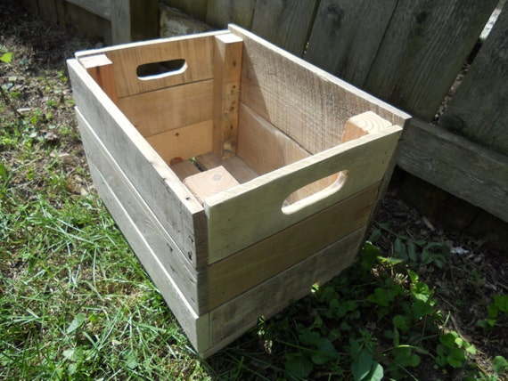 Items similar to 10 inch pallet wood planter box crate for How to make a flower box out of pallets