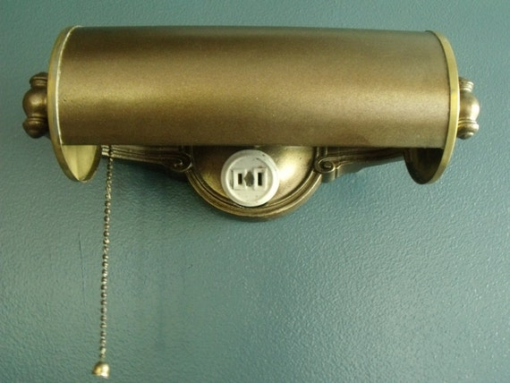 brass bankers light hotel desk lamp dome wall mount pull chain. Black Bedroom Furniture Sets. Home Design Ideas