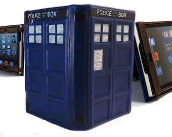 Tardis Leather iPad Case - Little Blue Box