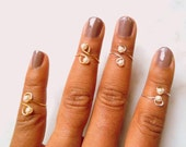 Pearl Midi Ring, Stackable Above Knuckle Rings, Adjustable Midi Ring, Slim Stackable rings, Edgysheeq statement rings for everyday Flair