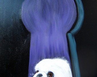 "Pekingese Art Print of an original oil painting / ""The Peeking Peke"" / Dog Art / 8 x 10"