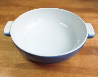 SALE - Emile Henry large round baking dish bowl - Azur blue - Made in France