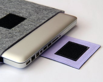"13"" inch Apple Macbook Pro laptop Sleeve Case Cover - Gray & Lilac - Weird.Old.Snail"