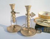 Vintage Brass Handleholders