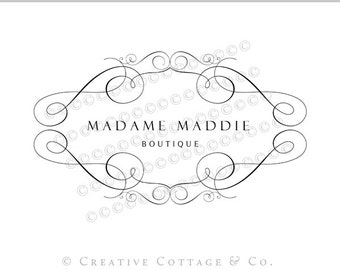 EXCLUSIVE OOAK Premade Photography Logo and Watermark, Madame- Never Sold Again