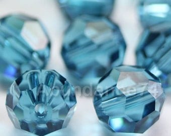 Swarovski Elements Crystal Beads 5000 Round Ball Beads INDICOLITE - Available in 4mm , 6mm and 8mm