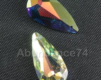 Swarovski Crystal 6100 Tear Drop Pendant 22mm x 12mm Crystal Clear AB