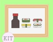 Counted Cross Stitch KIT Sushi and Soy Sauce