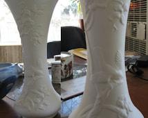 Large, Graceful,Lovely, Oriental Vase, Oriental decor, Bird Vase, Vintage vase, Flower vase, Ready to paint, Ceramic Bisque,U-Paint