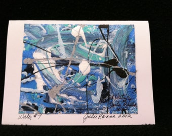 Abstract Painting (WATER) Note Cards