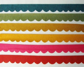 Scallop Felt Trim- 12 Pieces- You Choose Colors- Mix/Match