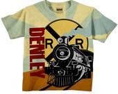Boys Train Shirt, Personalized Birthday Steam Engine T-Shirt, Top