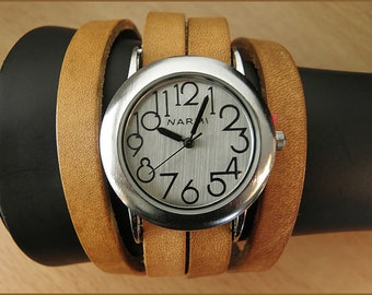 watch women leather wrap wrist watch