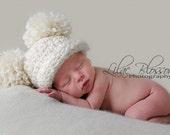 Crochet Baby Hat, Baby Pom Pom Hat, Baby Pom Hat, Newborn Baby Hat, Baby Girl Hat, Baby Boy Hat, Baby Photo Prop