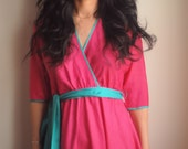 Pink Silk Belted Dress