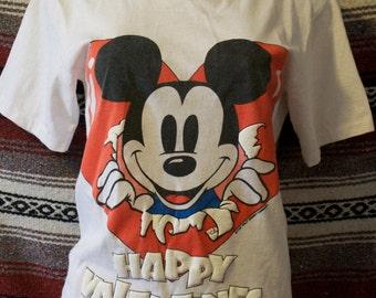vintage mickey valentine shirt
